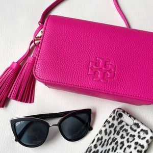 Tory Burch Thea Mini Leather Crossbody Bag